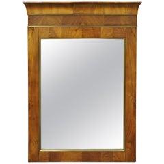 19th Century American Empire Crotch Mahogany Looking Glass Wall Mirror