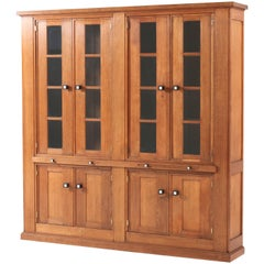 Oak Art Deco Haagse School Library Bookcase by Henk Wouda for Pander, 1920s