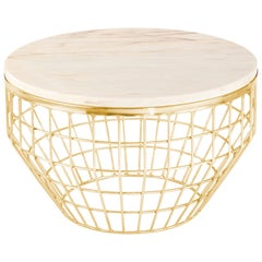 Side Table New Air in Brass or Copper