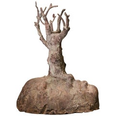 """Bronze Sculpture """"Hill with Trees"""" by Ivan Tilev"""