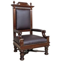 Eclectic Oak Armchair/Throne, circa 1920