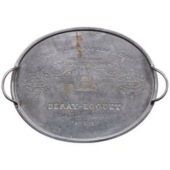 20th Century French Bistro Tray with Engraved with Local Advertising