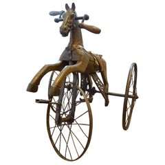 Antique Folk Art Horse Form Tricycle, 19th Century