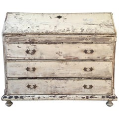 Swedish Gustavian Painted Chest or Secretaire