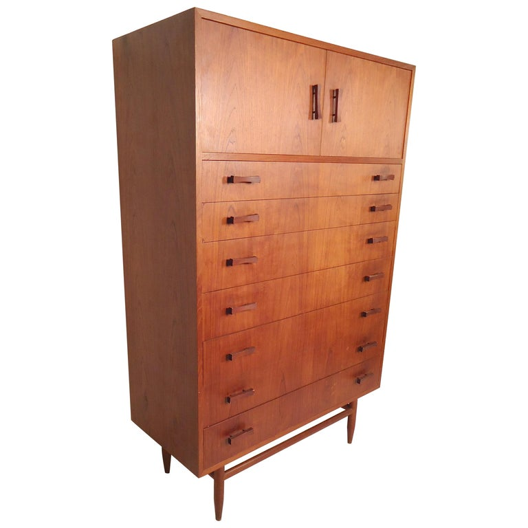 Tall Midcentury Chest of Drawers