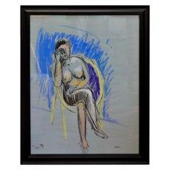 Jean Hélion (1904-1987) Nu assis au fauteuil, 1979