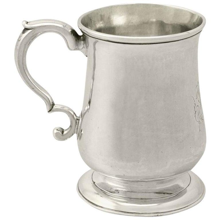 Georgian Newcastle Sterling Silver Half Pint or Christening Mug George III