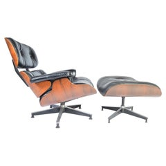 Charles Eames Rosewood 670/671 Lounge Chair and Ottoman for Herman Miller, 1970s