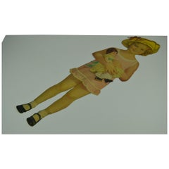 1930s Shirley Temple Paper Doll Toy with Different Outfits