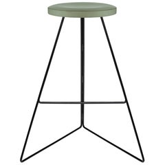 Coleman Stool Black and Aspen Counter