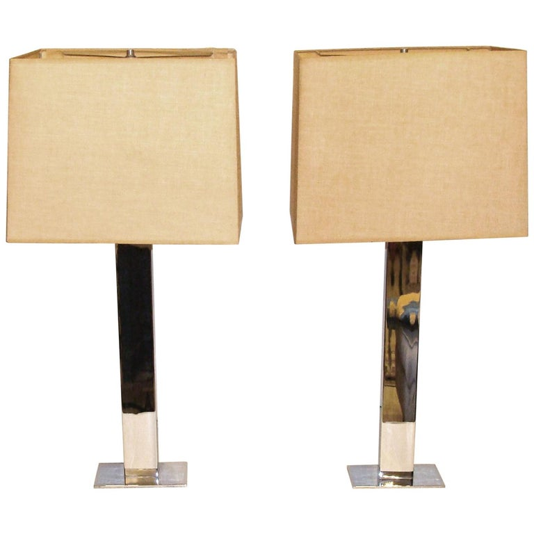 Pair of Authentic Vintage George Kovacs Skyscraper Table Lamps