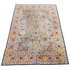 Antique Shah Abbas Tabriz Carpet Allover Design, Signed