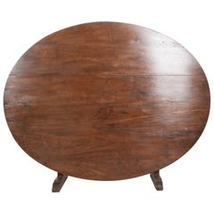 French 19th Century Large Walnut Wine Tasting Table