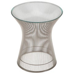 Warren Platner Nickel-Plated Side Table