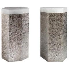 SAN1 Rock Crystal Side Table by Phoenix