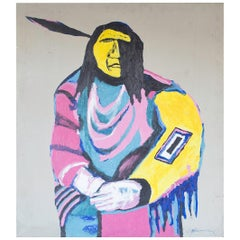 Midcentury Native American Painting