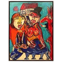 """Polish Immigrants on Broadway"" by Berlin Artist Peter Keil"