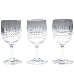 Set of 10 Baccarat Crystal 'Nancy' Pattern Sherry Glasses, circa 1950s