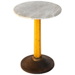 Art Deco Pedestal Table Carl Witzmann, Marble Metal Cast Iron, Austria, 1920s