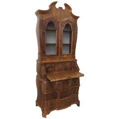 Vintage Italian Burl Olivewood Secretary Desk