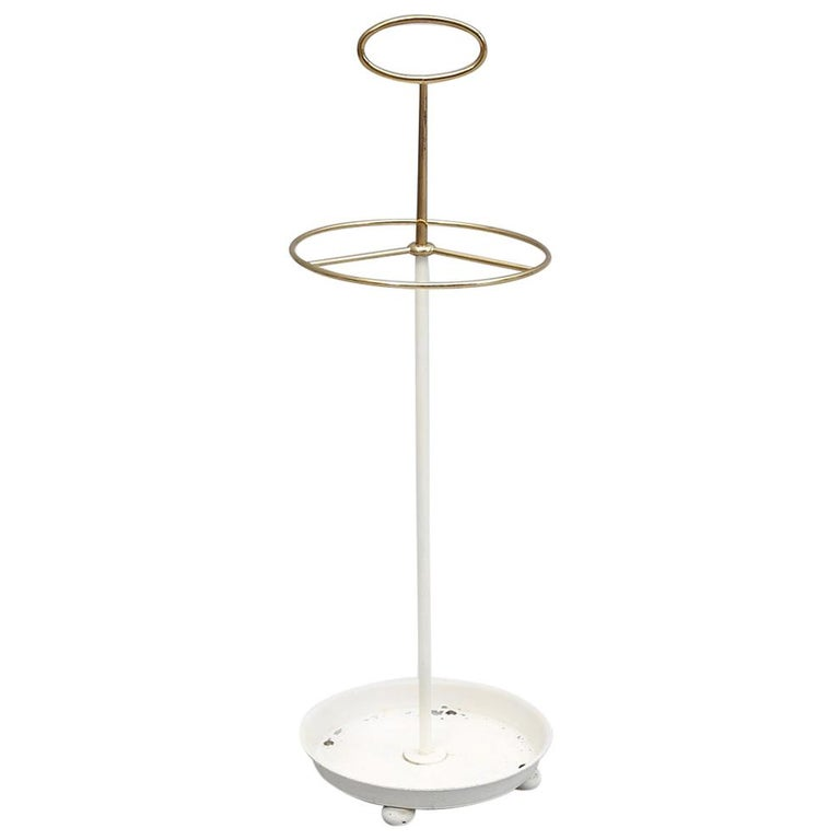 Midcentury Brass Umbrella Stand By Gunnar Ander For Ystad For Sale