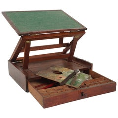 19th Century Traveling Paint Box and Easel from the Estate of Bunny Mellon