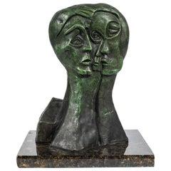 Mid-Century Modern Abstract Bronze Sculpture