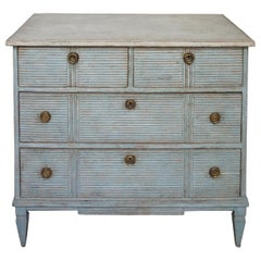 Swedish Two over Two Chest in Blue Paint