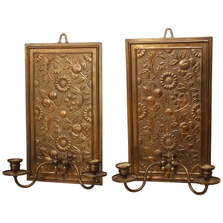 Pair of Brass Wall Sconces in the Manner of Thomas Jeckyll, circa 1880
