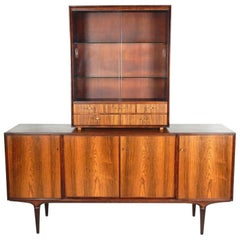 Midcentury Svante Skogh for Seffle of Sweden Rosewood Sideboard Cabinet