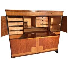 Swedish Art Deco Bar or Writing Cabinet