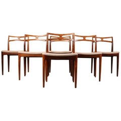 Set of Six Johannes Andersen Model #94 Rosewood Dining Chairs, Denmark, 1960s
