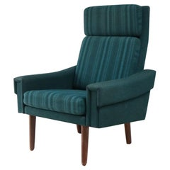 1960s-1970s Danish Midcentury High Backed Armchair