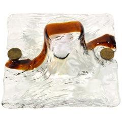Toni Zuccheri Venini Quilt Murano Glass Sconce, 1970s