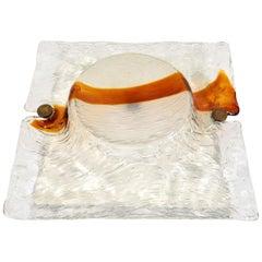 Toni Zuccheri Venini Quilt Murano Glass Large Sconce, 1970s