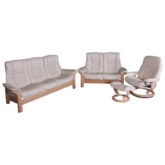 Ekornes Stressless Windsor Sofas, Chair and Footstool