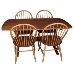 Ercol Blonde Elm Dining Table and Four Chairs