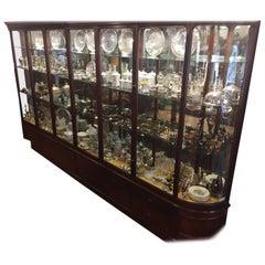 19th Century Victorian Mahogany Shop Display Cabinet