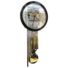 Arthur Umanoff for Howard Miller Lucite Wall Clock with Chimes