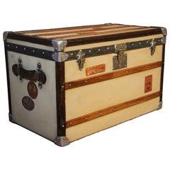 1920s Beige Moynat Steamer Trunk