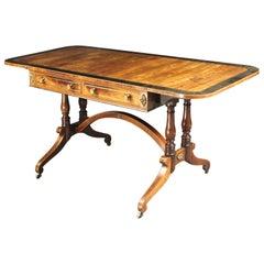 Regency Brass Inlaid Sofa Table in Kingwood