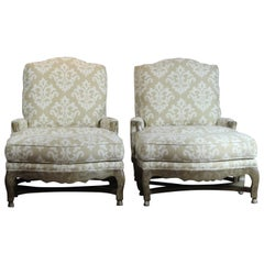 Pair of Bergere and Ottoman