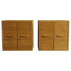 Split Bamboo Cabinets, circa 1970