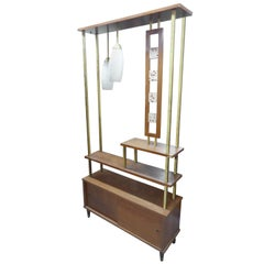 Midcentury Divider with Lighting
