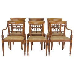 Set of Six British Colonial Dining Chairs, 1830