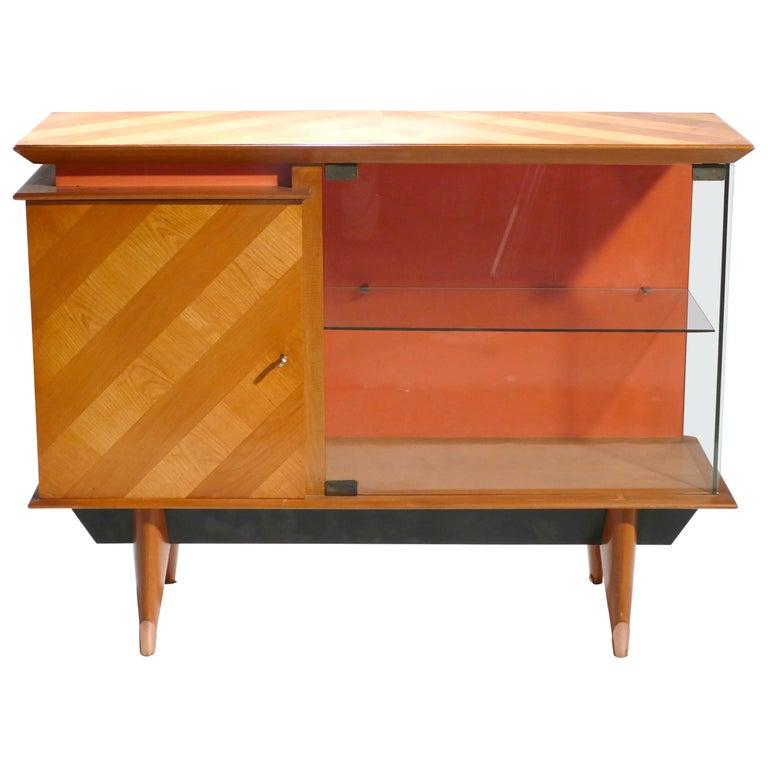 Midcentury French Modernist Cabinet Vaisselier, 1950s