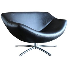 "Leather ""Gigi"" Swivel Chair by Gerard Van Den Berg for Label"