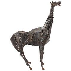 Midcentury Brutalist Horse Sculpture