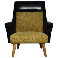 Danish Midcentury Easy Chair from the 1950s with Original Fabric