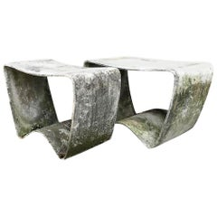 Concrete Stools by Ludwig Walser for Eternit